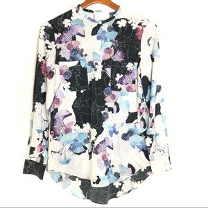 3.1 Phillip lim watercolor floral silk blouse/ 2